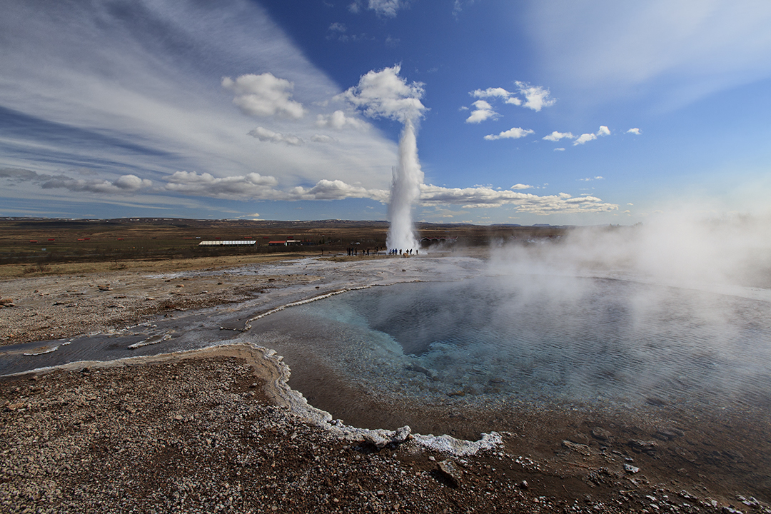 Geysir hot springs golden circle iceland