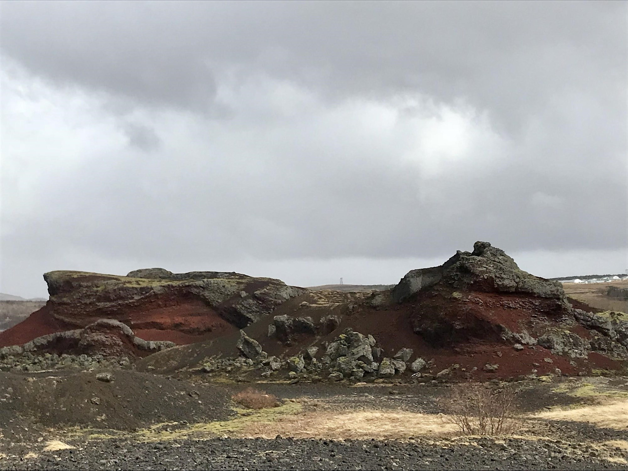 red lava iceland